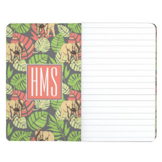 Exotic Jungle Leaves And Elephants | Monogram Journal
