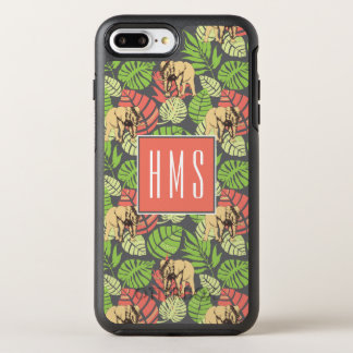 Exotic Jungle Leaves And Elephants | Monogram OtterBox Symmetry iPhone 8 Plus/7 Plus Case