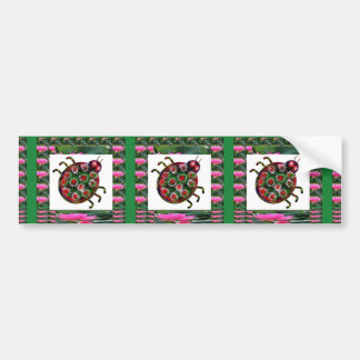 EXOTIC Ladybug Graphic Art Bumper Stickers