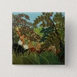 Exotic landscape 15 cm square badge