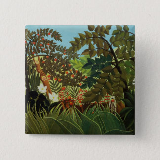 Exotic landscape 15 cm square badge