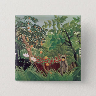 Exotic Landscape, 1910 15 Cm Square Badge