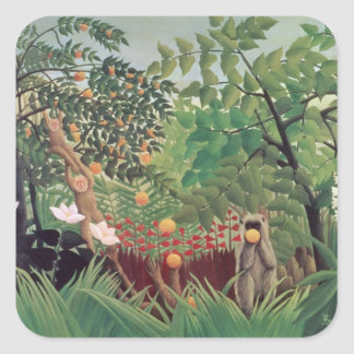 Exotic Landscape, 1910 Square Sticker