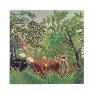 Exotic Landscape, 1910 Wood Coaster