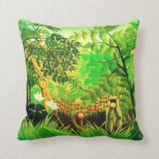 Exotic Landscape, by Henri Rousseau Cushions
