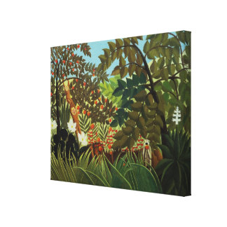 Exotic landscape canvas print