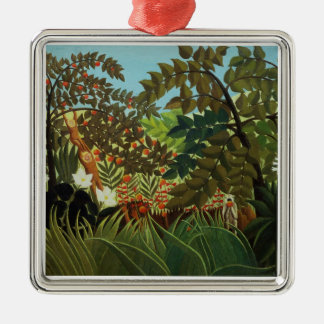 Exotic landscape christmas ornament
