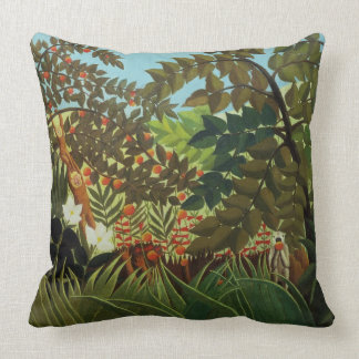 Exotic landscape throw pillows