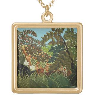Exotic landscape pendant