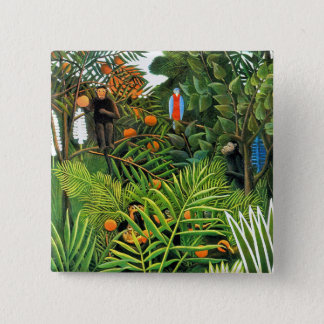 Exotic Landscape   (Paysage Exotique) 15 Cm Square Badge