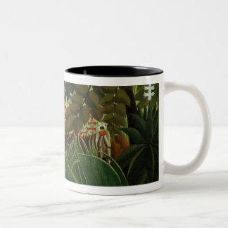 Exotic landscape Two-Tone coffee mug