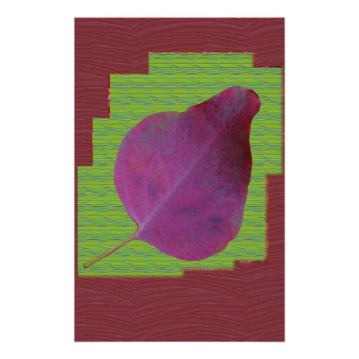 EXOTIC Leaf Purple Artistic Surface Shade LOWPRICE Custom Stationery