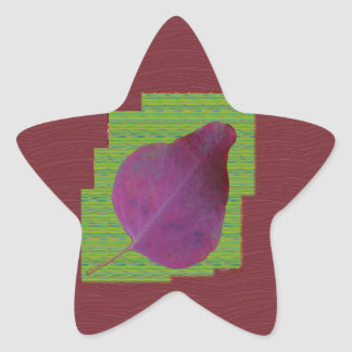 EXOTIC Leaf Purple Artistic Surface Shade LOWPRICE Star Sticker