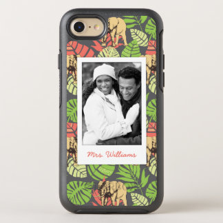 Exotic Leaves & Elephants   Add Your Photo & Name OtterBox Symmetry iPhone 7 Case