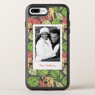 Exotic Leaves & Elephants | Add Your Photo & Name OtterBox Symmetry iPhone 8 Plus/7 Plus Case