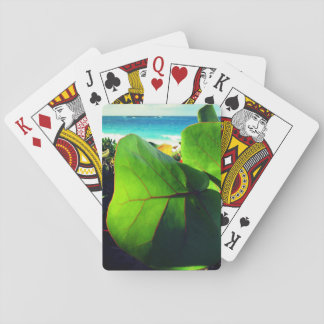 Exotic Leaves View Playing Cards