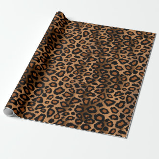 Exotic Leopard Animal Print Wrapping Paper