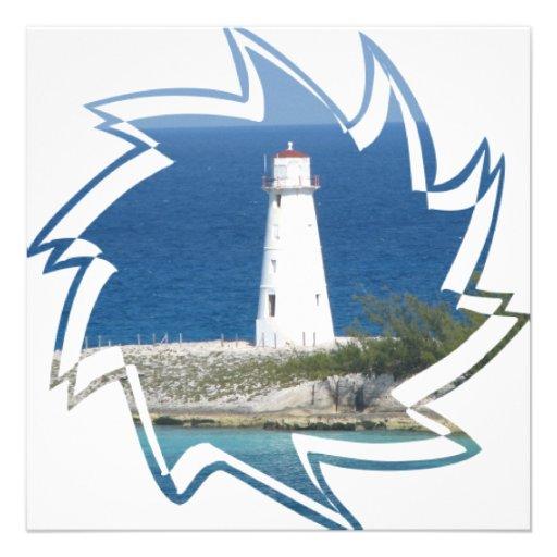 Exotic Lighthouse Invitation