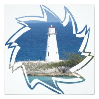 "Exotic Lighthouse Invitation 5.25"" Square Invitation Card"