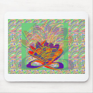 Exotic LOTUS and Grass Bushes on background Mouse Pads