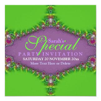 Exotic Magic Genie Fractal Art Invitation