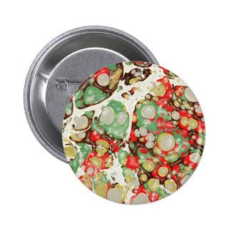 exotic MARBLE Stone Spread 6 Cm Round Badge