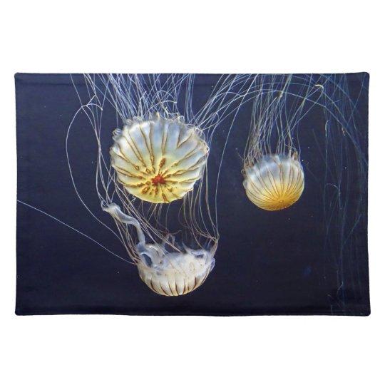 Exotic Marine Salt Water Jellyfish Placemats