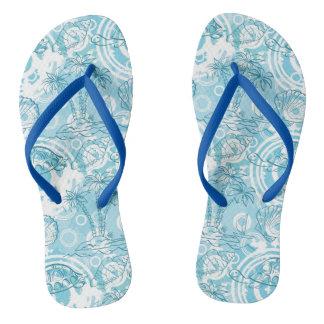 exotic ocean pattern flip flops