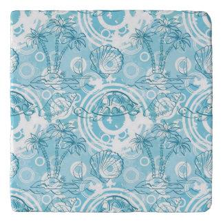 exotic ocean pattern trivet