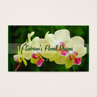 Exotic Orchids Business Card