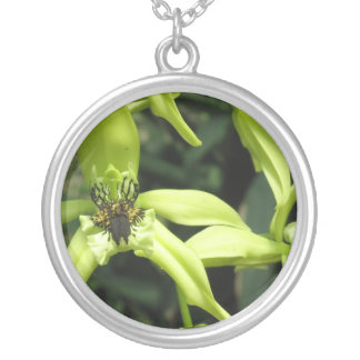Exotic Orchids Sterling Silver Necklace