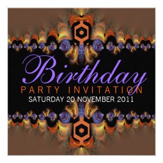 Exotic Oriental Flavour Party Birthday Invitation