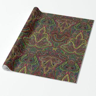 Exotic paisley boho damask gift wrap
