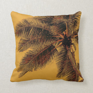 Exotic palm toss pillow