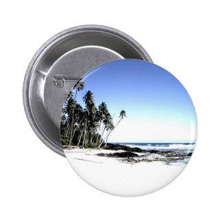Exotic Palm Trees & Paradise Beach 6 Cm Round Badge
