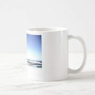 Exotic Palm Trees & Paradise Beach Basic White Mug