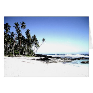 Exotic Palm Trees & Paradise Beach Greeting Card