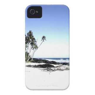 Exotic Palm Trees & Paradise Beach iPhone 4 Case-Mate Cases