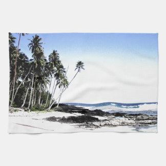 Exotic Palm Trees & Paradise Beach Tea Towel