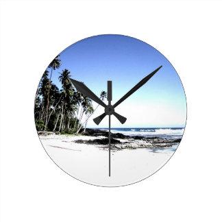 Exotic Palm Trees & Paradise Beach Wall Clocks
