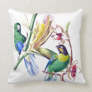 Exotic Parrot Birds Wildlife Animals Throw Pillow