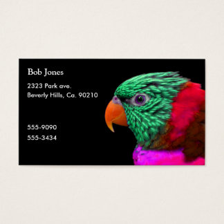Exotic Parrot Green Red Pink Business Card