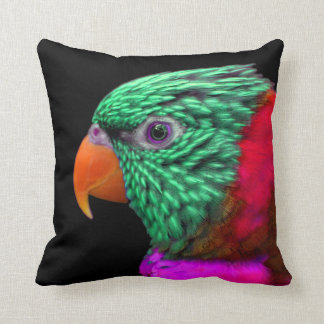 Exotic Parrot Green Red Pink Pillow