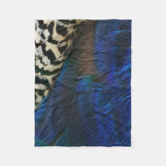 Exotic Peacock Blue Fleece Blanket
