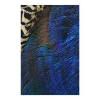 Exotic Peacock Blue Customised Stationery