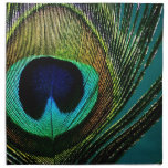 Exotic Peacock Feather Chic Photography Napkin