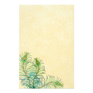 Exotic Peafowl Feathers Stationery