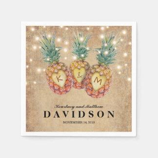 Exotic Pineapple Tropical Wedding Paper Napkin
