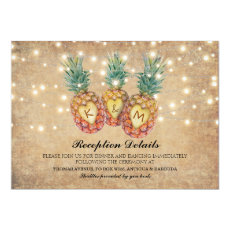 Exotic Pineapple Tropical Wedding Reception
