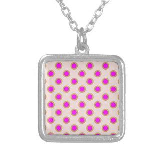 EXOTIC Pink Dot Matrix : Pattern Jewel Pendants